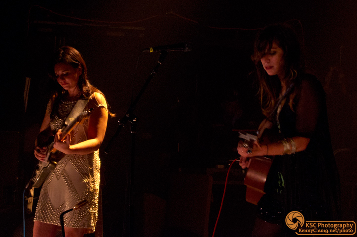Irina Yalkowsky on the electric guitar and Nicole Atkins on the acoustic.
