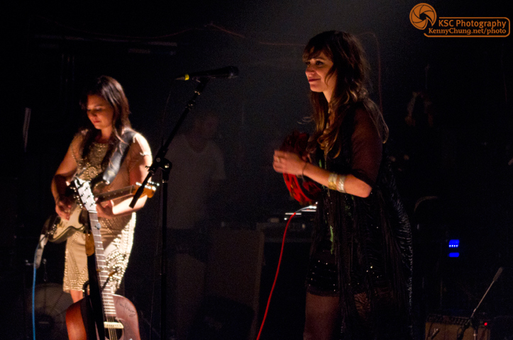 Nicole Atkins and Irina Yalkowsky at Music Hall of Williamsburg