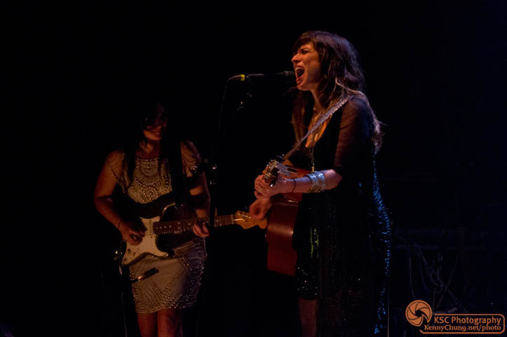 Nicole Atkins singing at Music Hall of Williamsburg