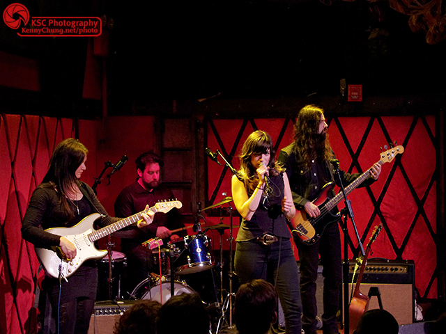 Nicole Atkins & The Black Sea performing at Rockwood Music Hall