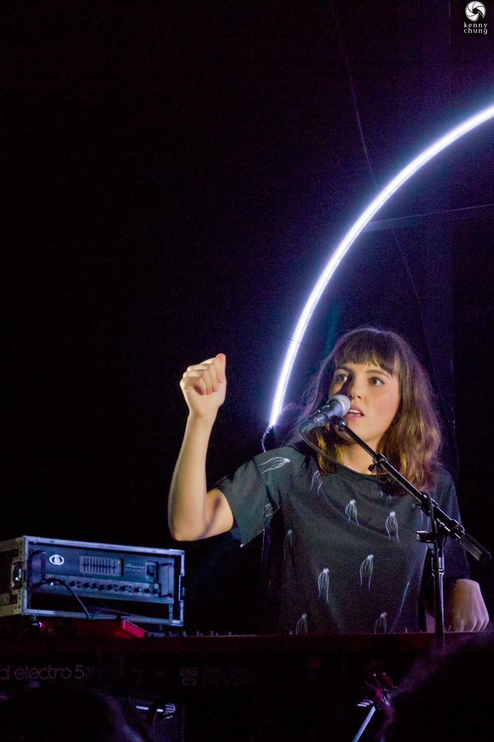 Josephine Vander Gucht of Oh Wonder on stage at Rough Trade NYC