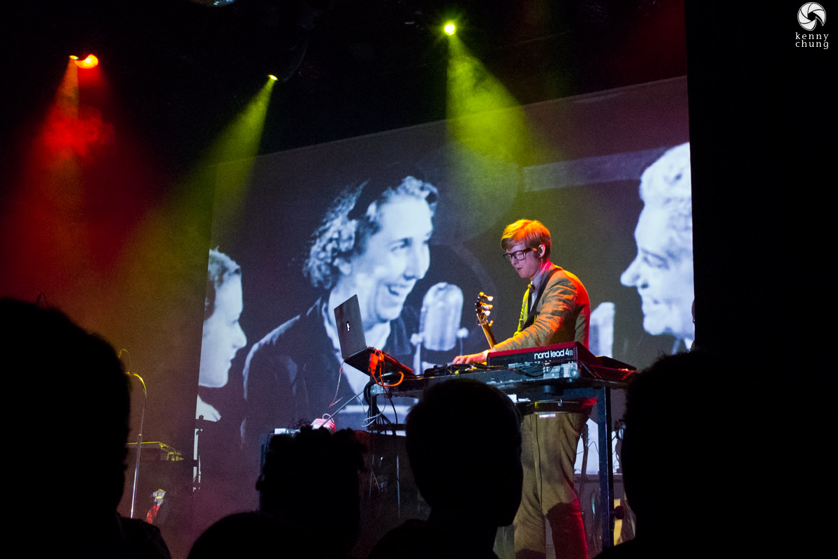 Public Service Broadcasting playing Theme from PSB at Bowery Ballroom