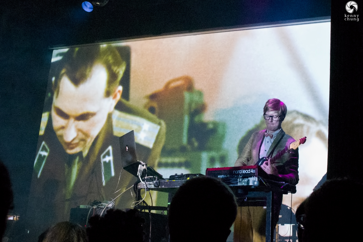 Public Service Broadcasting playing E.V.A. at Bowery Ballroom