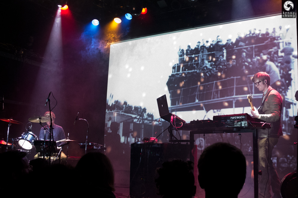 Public Service Broadcasting playing Gagarin at Bowery Ballroom