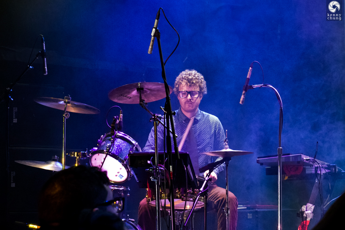 Public Service Broadcasting drummer Wrigglesworth at Bowery Ballroom