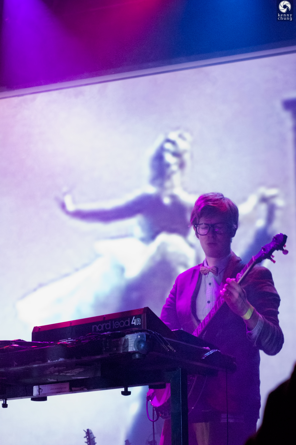 Public Service Broadcasting playing ROYGBIV