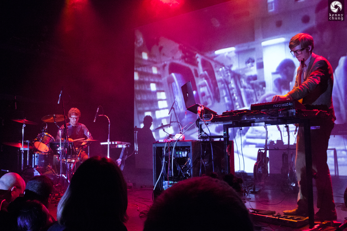 Public Service Broadcasting playing Go! at Bowery Ballroom