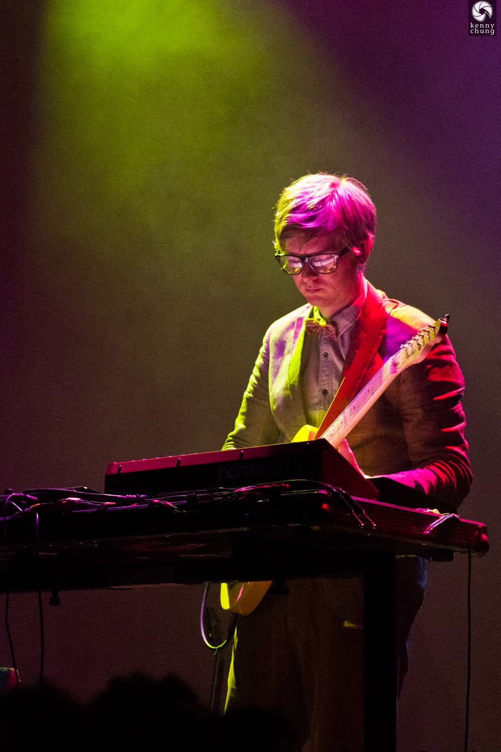 Public Service Broadcasting's J. Willgoose, Esq playing a Telecaster at Bowery Ballroom