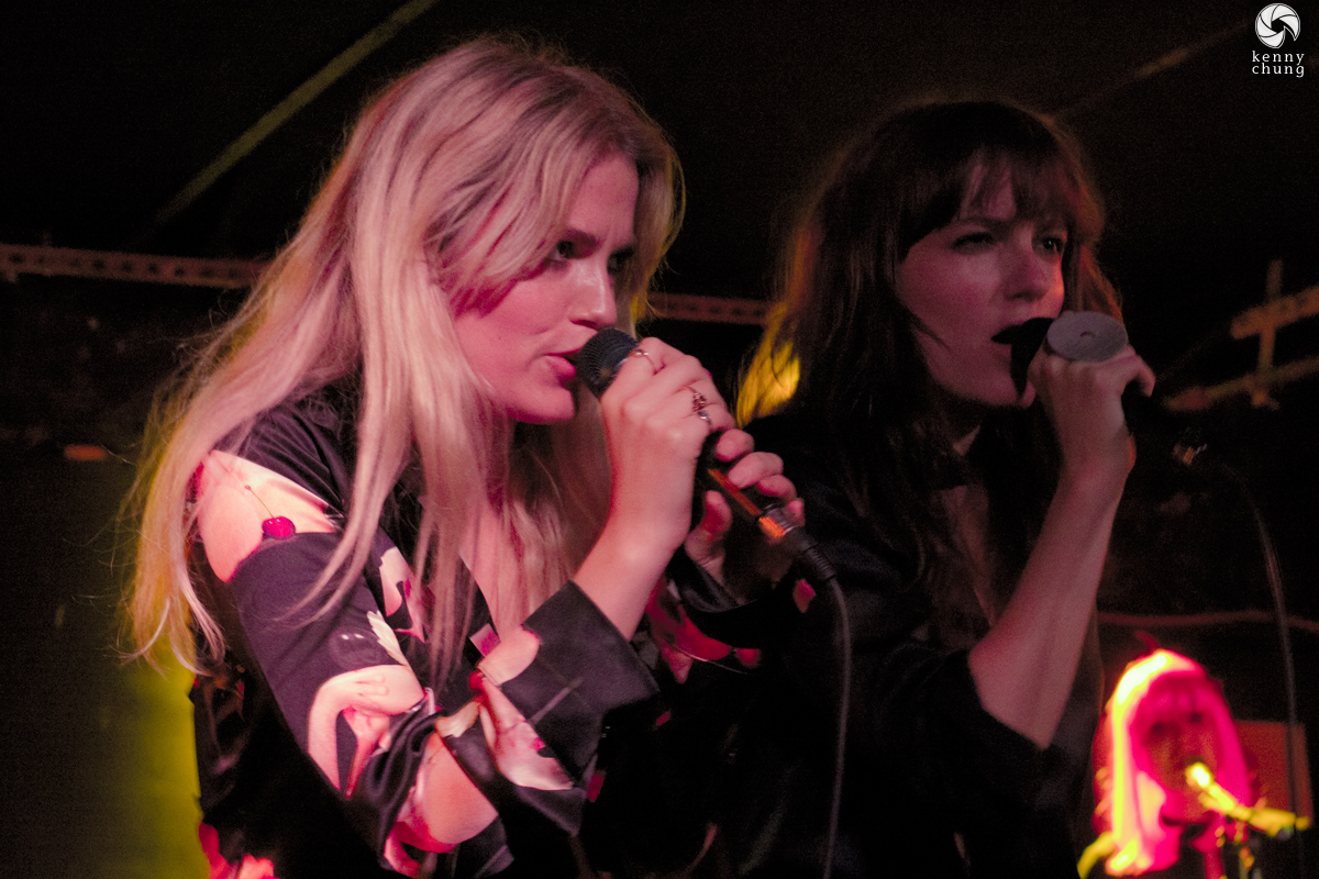 Elektra and Miranda Kilbey-Jansson of Say Lou Lou at Mercury Lounge