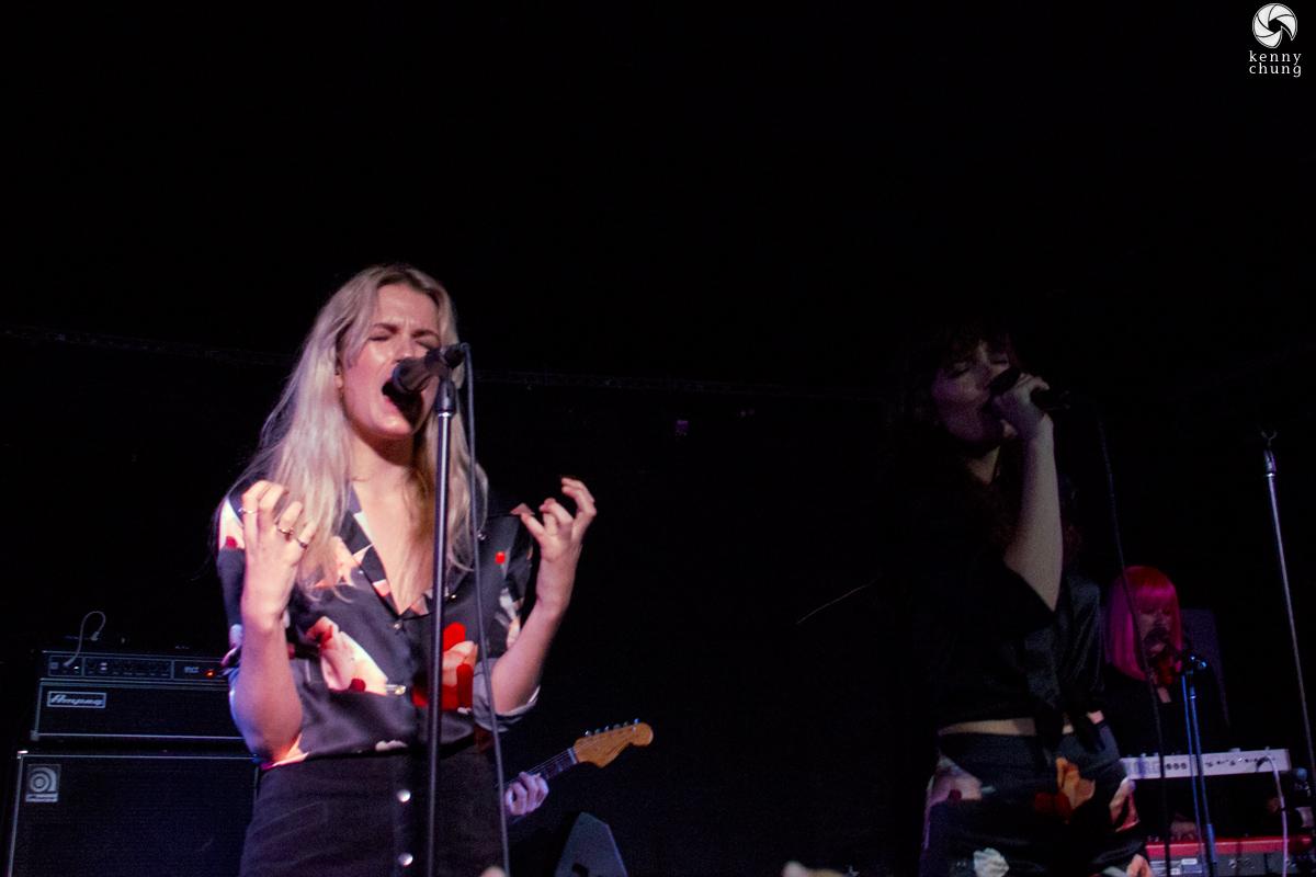 Elektra of Say Lou Lou performing at Mercury Lounge