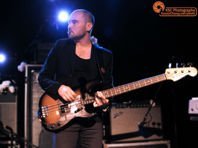 Evan Cranley playing his Fender P-Bass