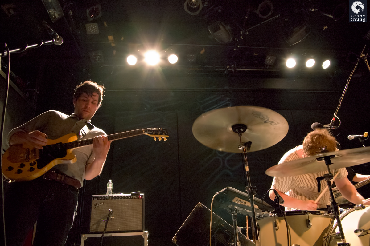Telekinesis guitarist and Micahel at Bowery Ballroom