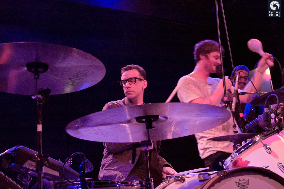 Fred Armisen playing drums for Telekinesis at Bowery Ballroom