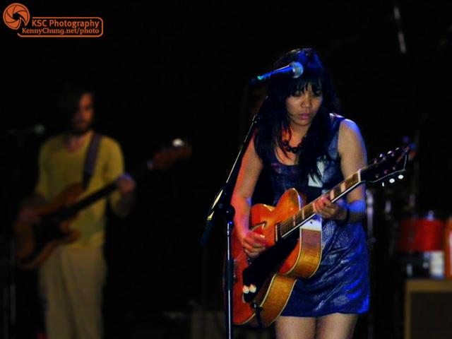 Thao Nguyen on guitar