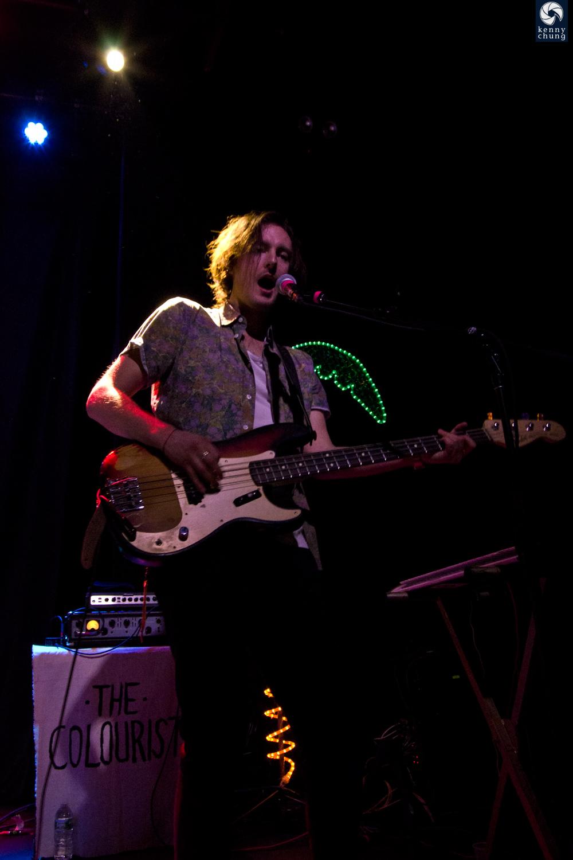 The Colourist bassist/guitarist Kollin Johannsen at Rough Trade, Brooklyn.