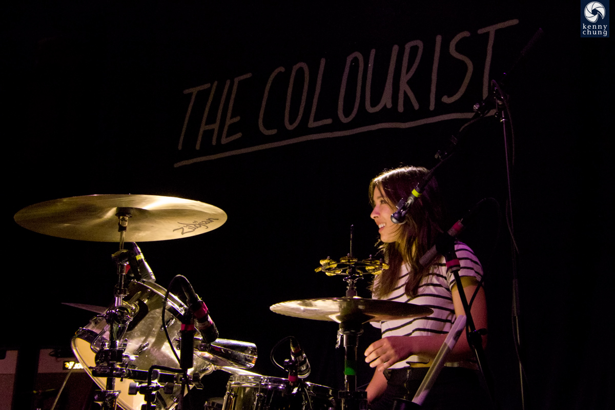 The Colourist's drummer and singer Maya Tuttle