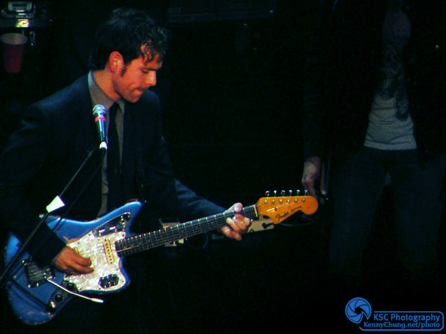 Bryce Dessner of the National with this Fender Jaguar