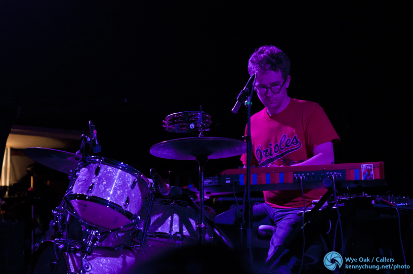 Wye Oak drummer Andy Stack at Music Hall of Williamsburg