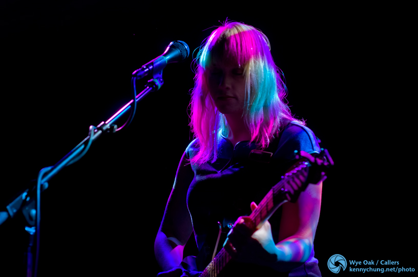 Jenn Wasner at Music Hall of Williamsburg's colorful lights