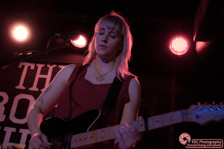 Jenn Wasner playing guitar at The Rock Shop Brooklyn