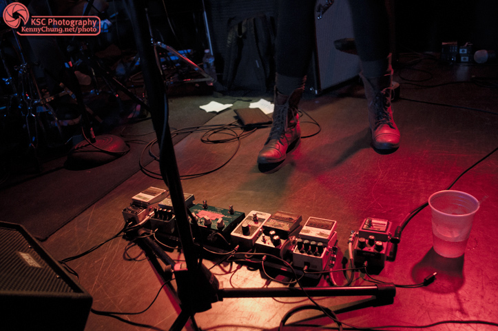 Guitar Pedals on Stage Jenn Wasner's Guitar Pedals on