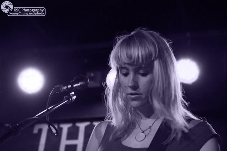 Jenn Wasner of Wye Oak during the encore