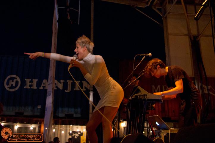 Claire Evans and Jona Bechtolt Brooklyn Bazaar stage