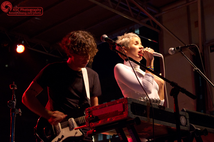 YACHT took to the stage last. Here are the band's two core members Jona Bechtolt and Claire Evans.