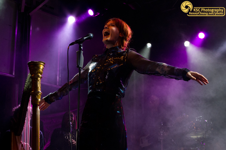 Florence and the Machine on stage at Creators Project in Brooklyn