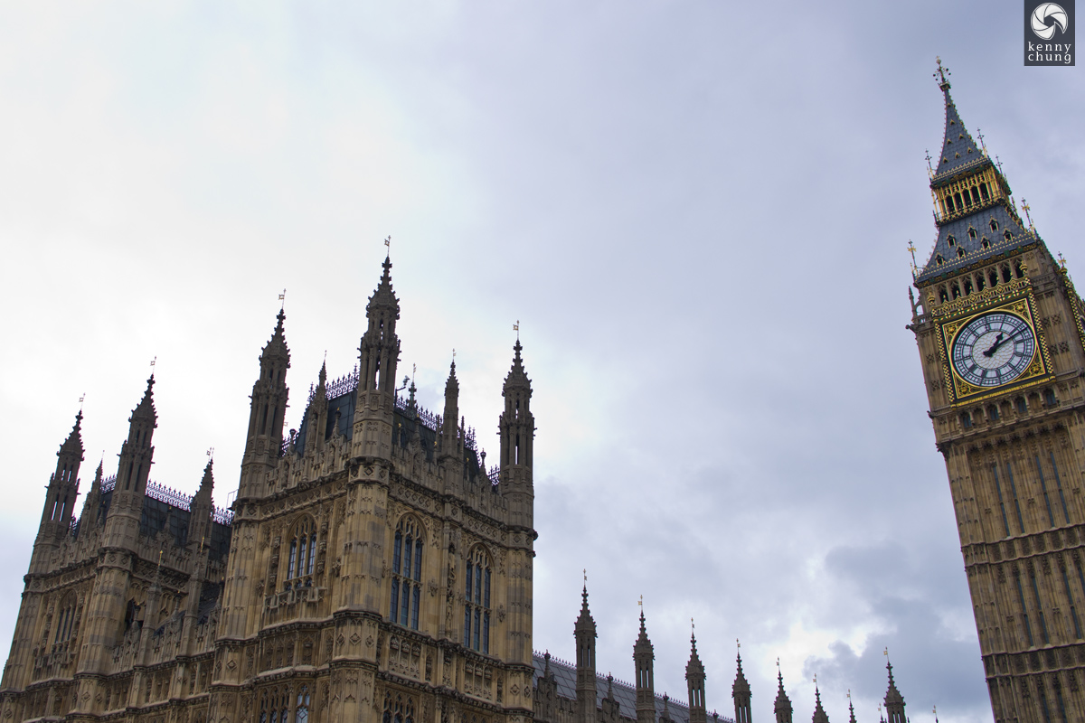 Palace of Westminster and Elizabeth Tower in London