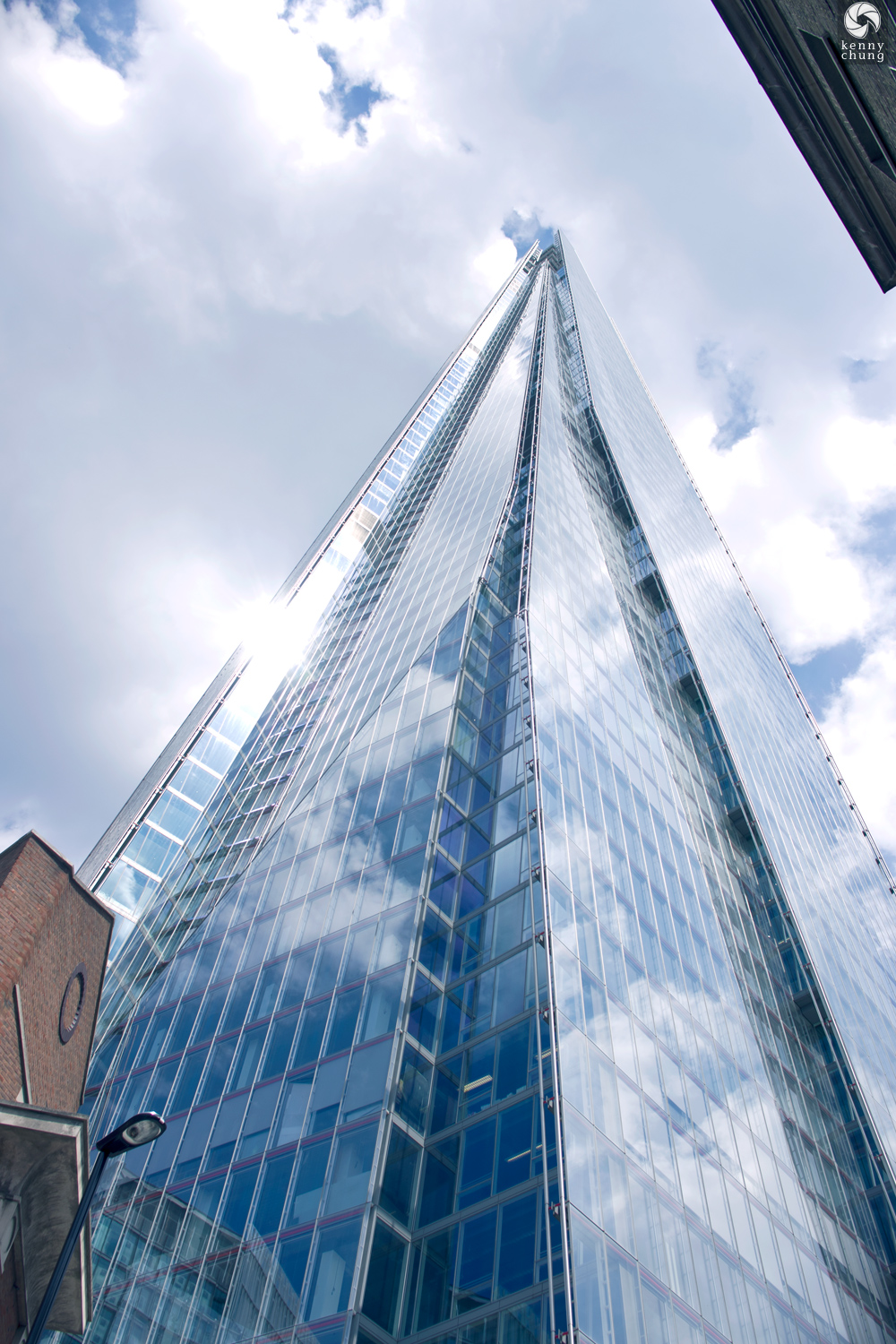 The Shard from street level in Southwark, London