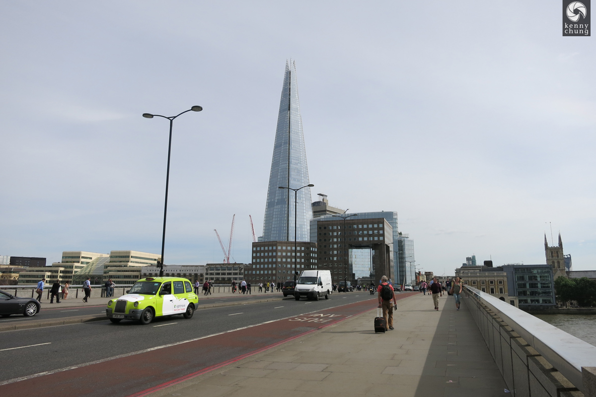 A view of The Shard from the London Bridge