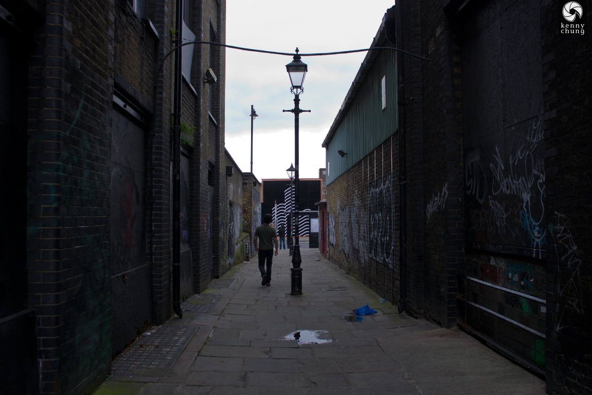 An alley in Shoreditch, London