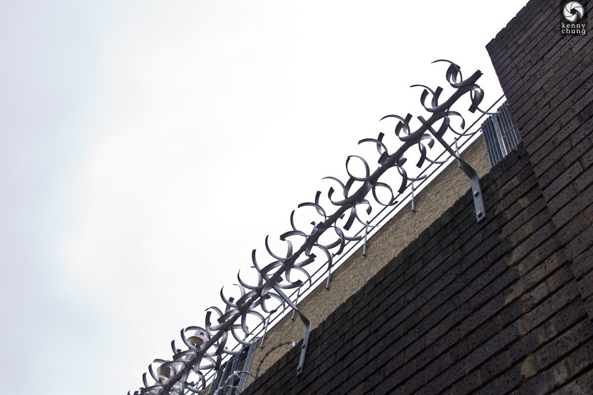 Barbed wire in Shoreditch, London