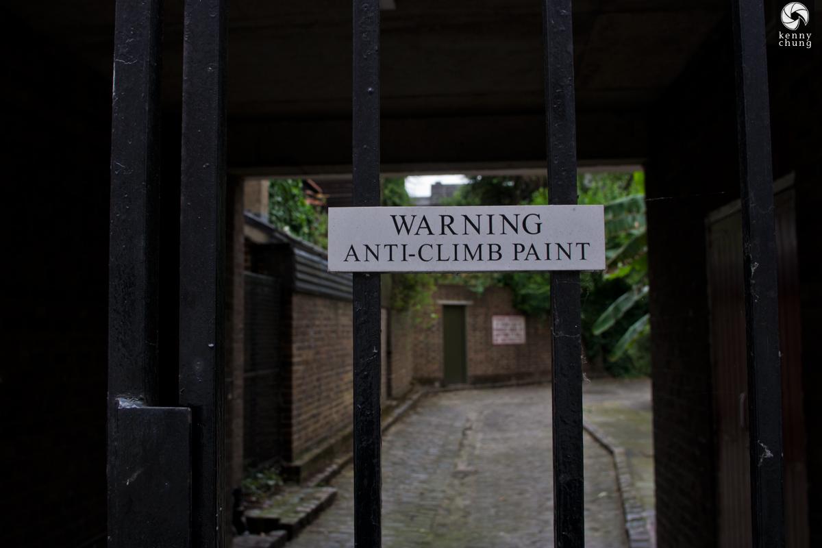 Anti-Climb Paint fence in Shoreditch, London