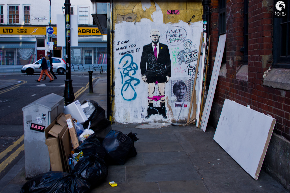 I Can Make You Famous street art by T.Wat in Shoreditch, London