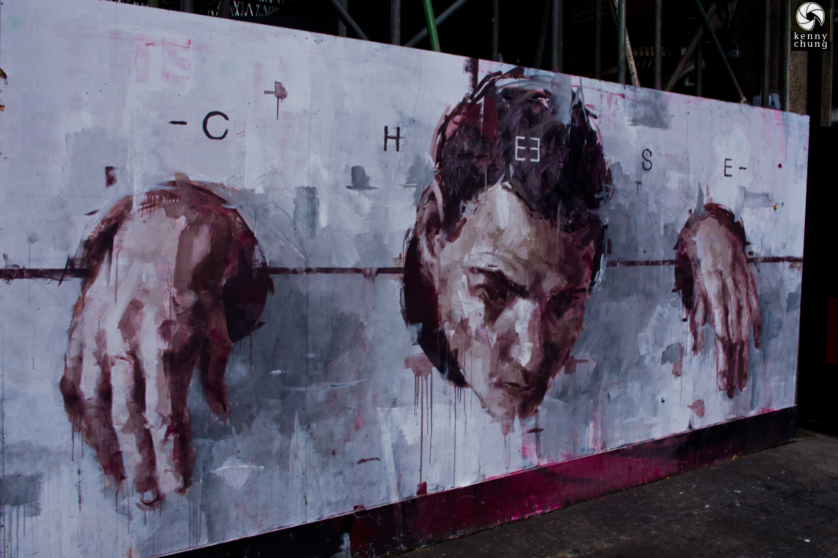 Borondo Cheese street art in Shoreditch, London