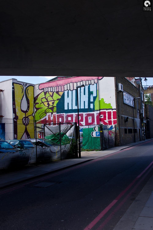 Huh? Horror graffiti in Shoreditch, London