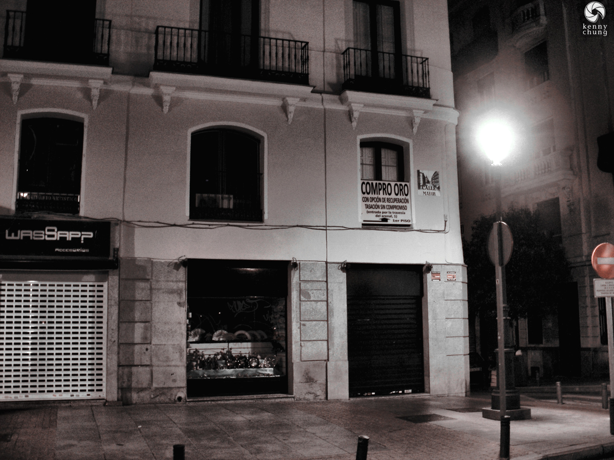 Calle Mayor at night