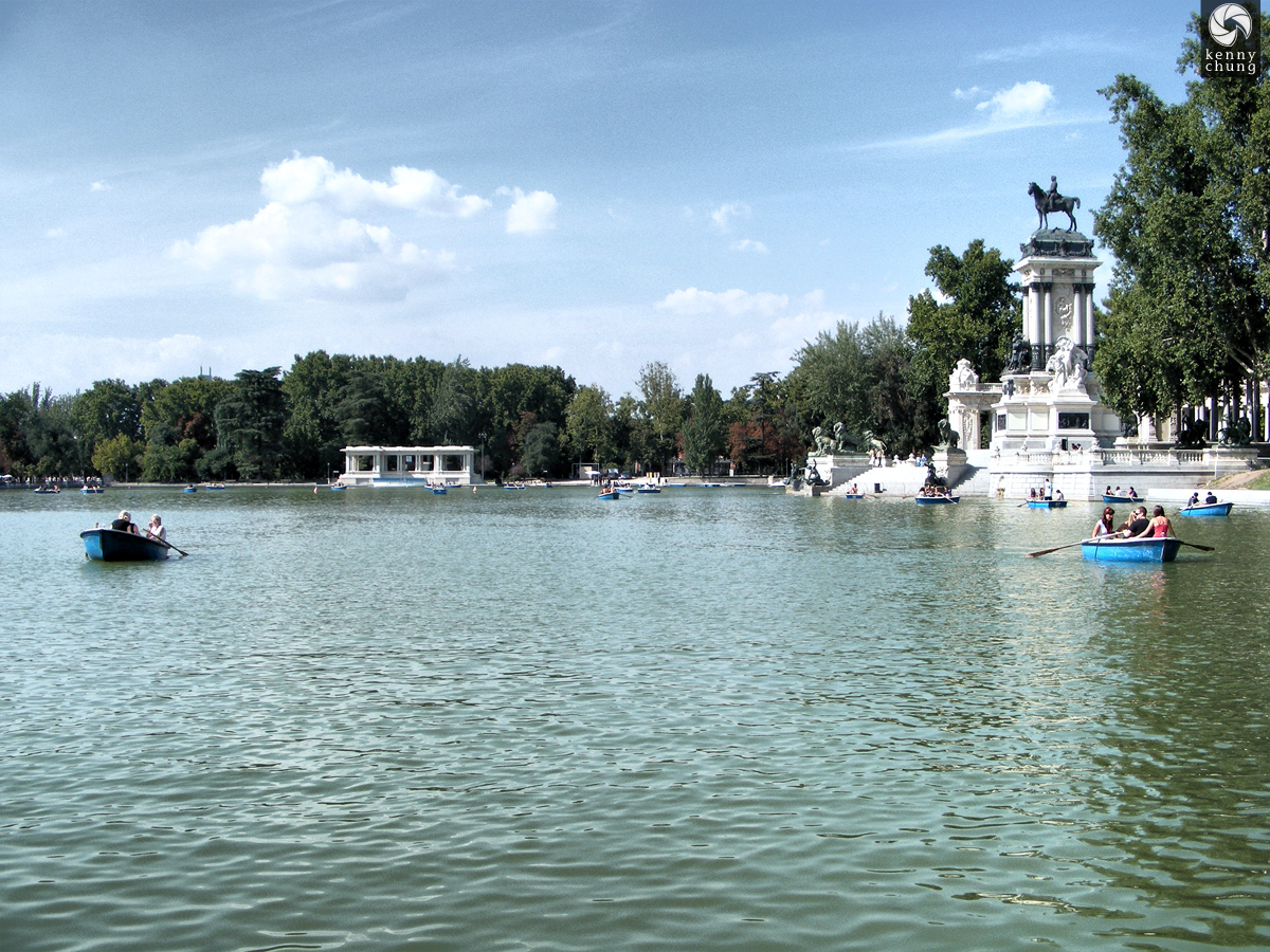 Rowboats on Retiro Pond