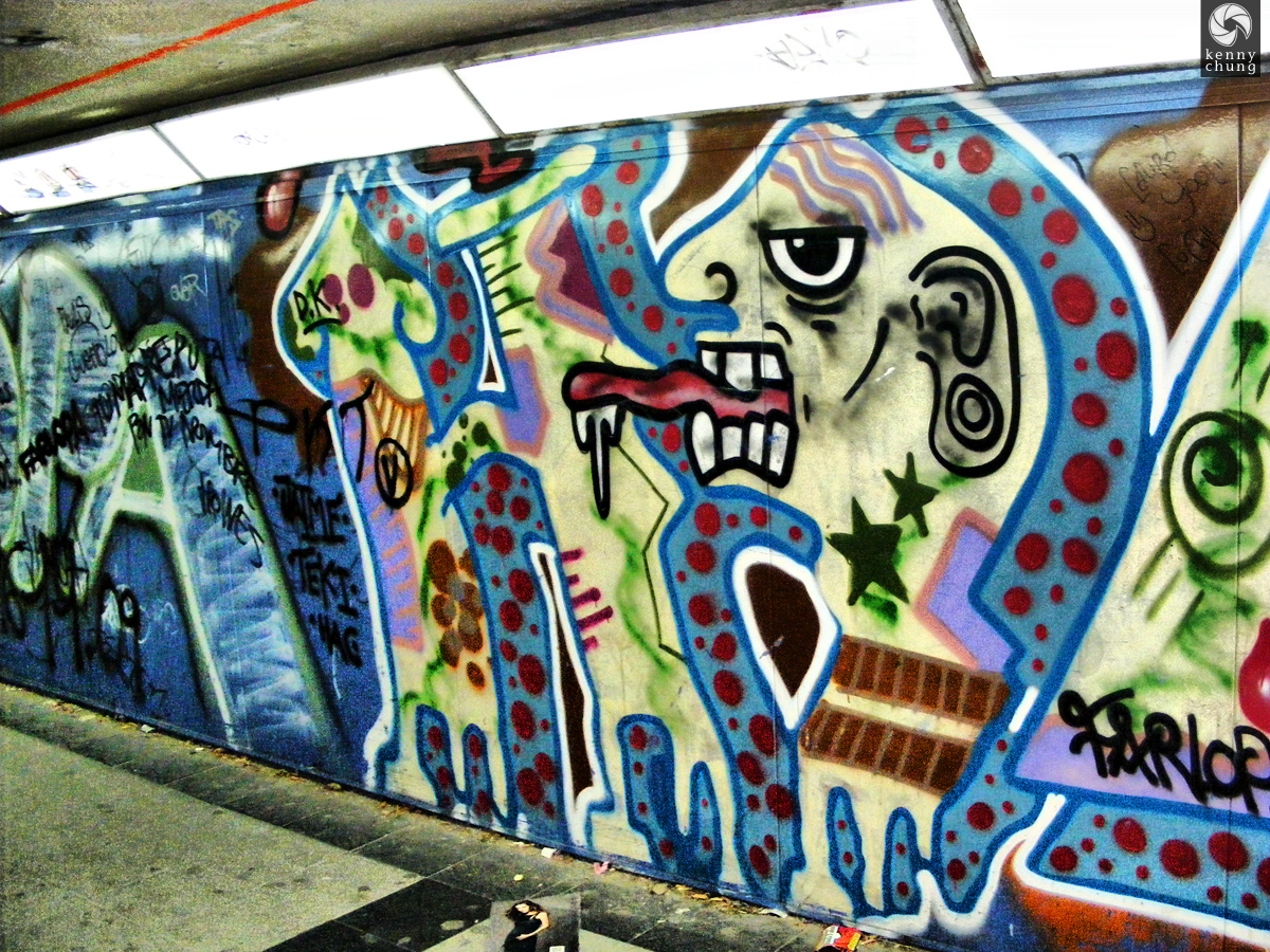 Graffiti at the Retiro Metro Station
