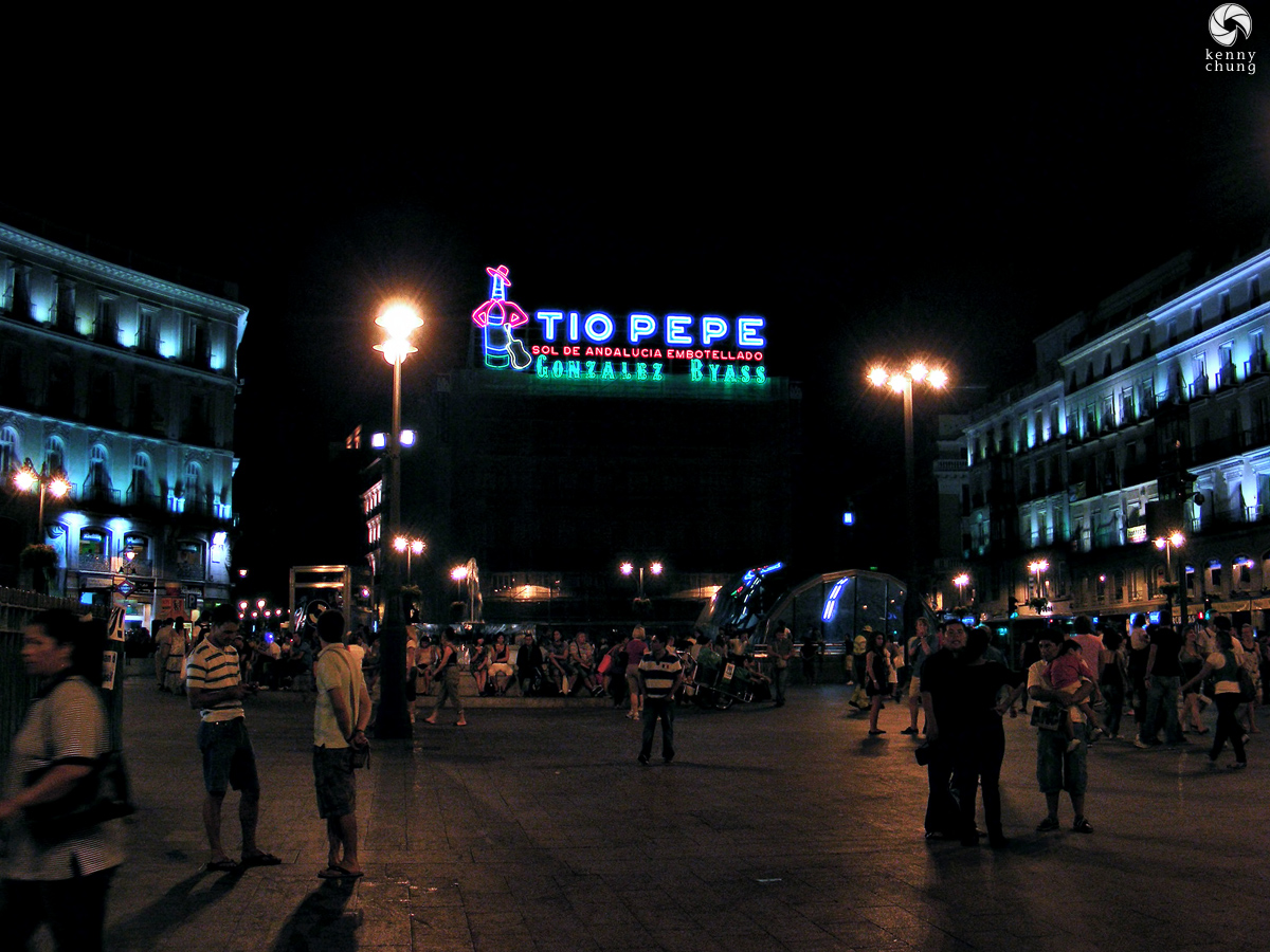 Tio Pepe sign at Puerta del Sol