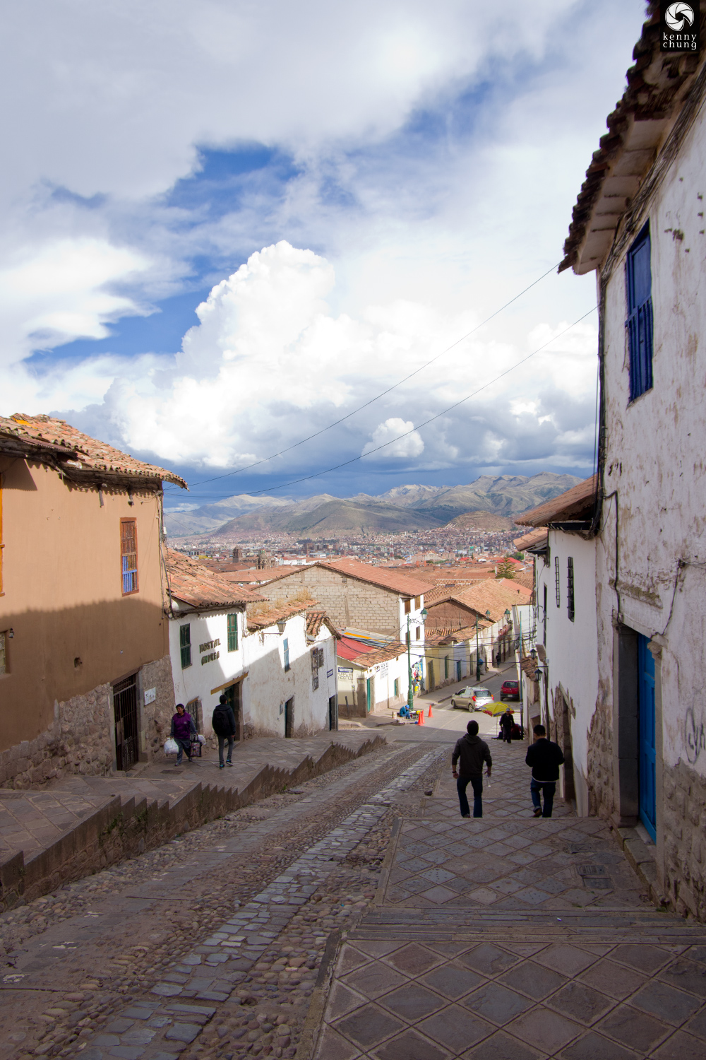 View of the mountains in Cusco