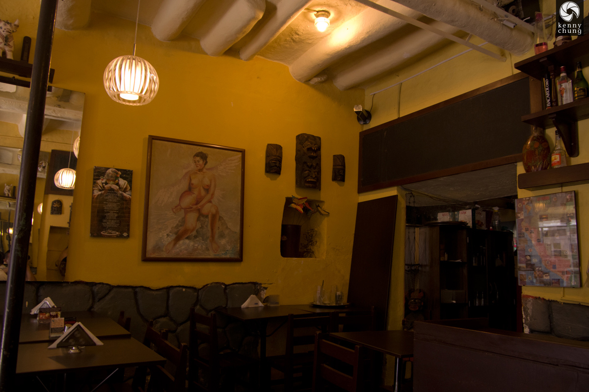 Interior decor of Pachamama restaurant in Cusco, Peru
