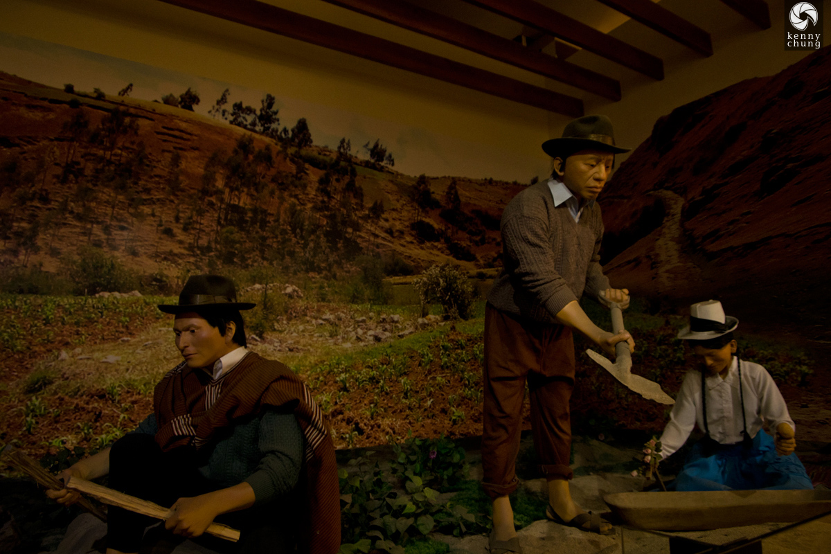 Farming exhibit at the Museum of the Peruvian Gastronomy
