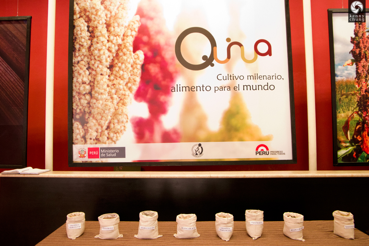 Different types of quinoa in Peru.
