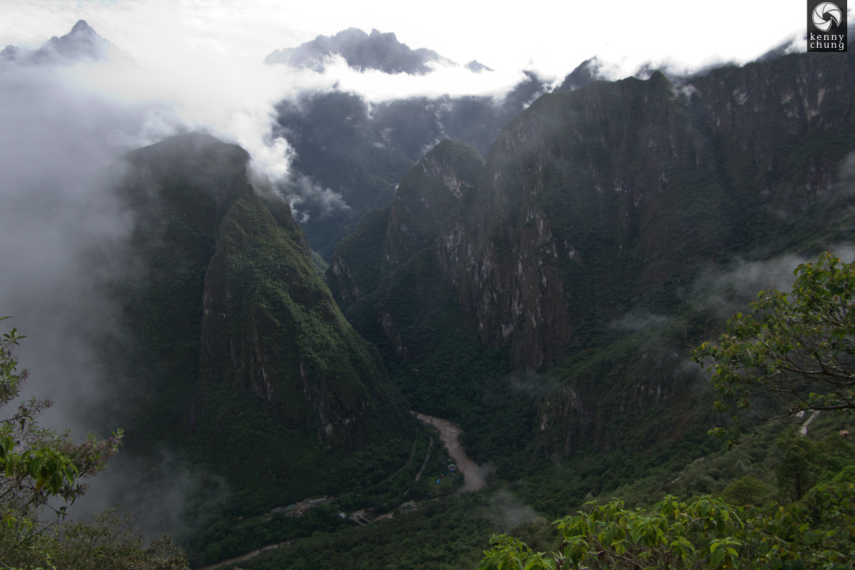 The mountain peaks of Machu Picchu