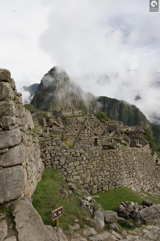 Ancient Machu Picchu ruins