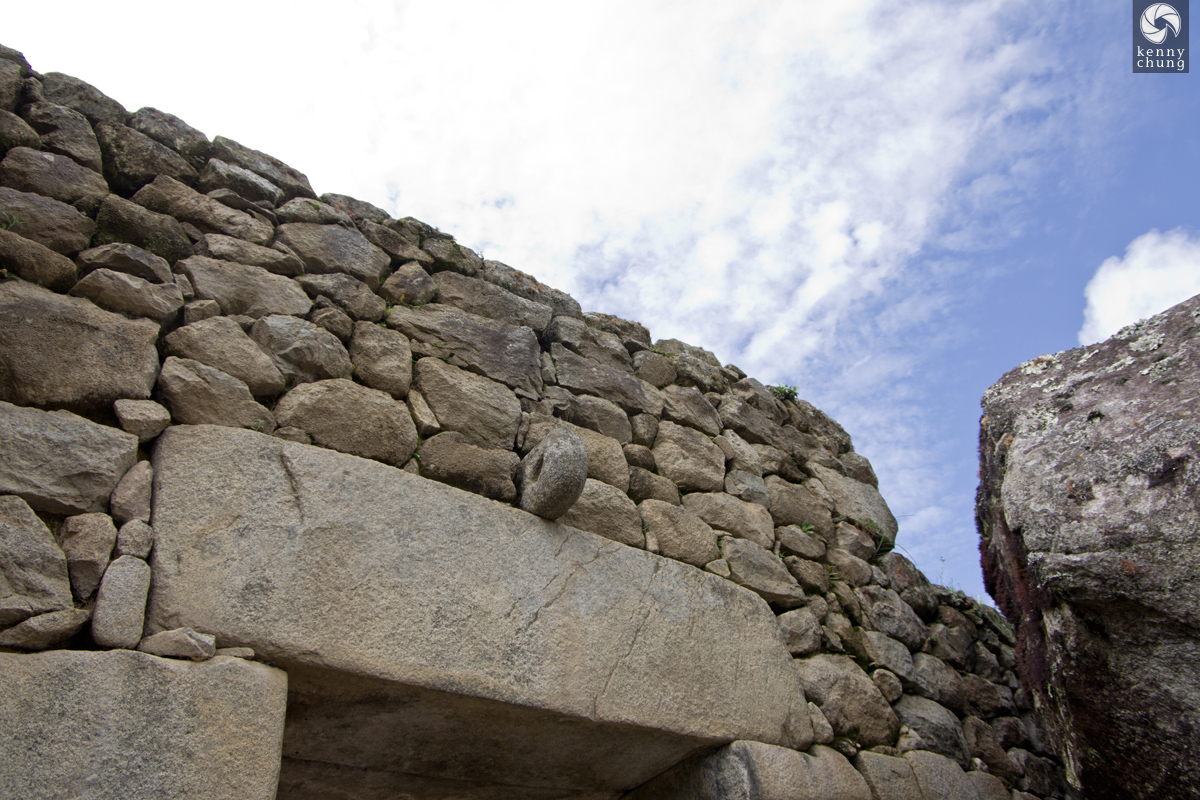 stone doorway at Machu Picchu