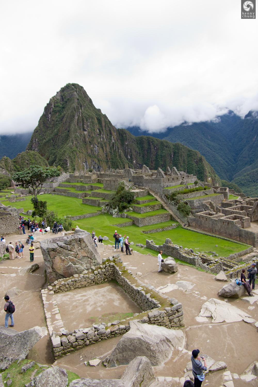 Tourists at Machu Picchu